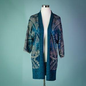 Lucky Brand XS/S Blue Gray Open Cardigan Sweater